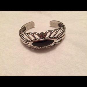 Kabana Sterling Silver & Onyx Cuff Bracelet